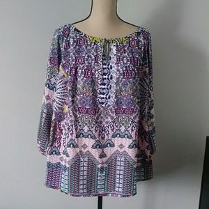 Fig and Flower Anthropologie Peasant/Boho Blouse2x